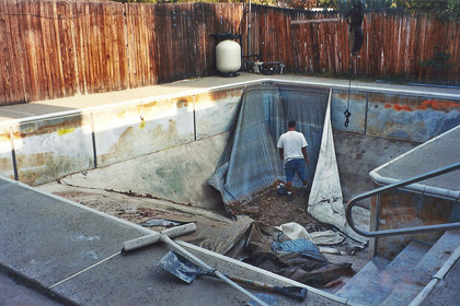 Before- Liner Pool